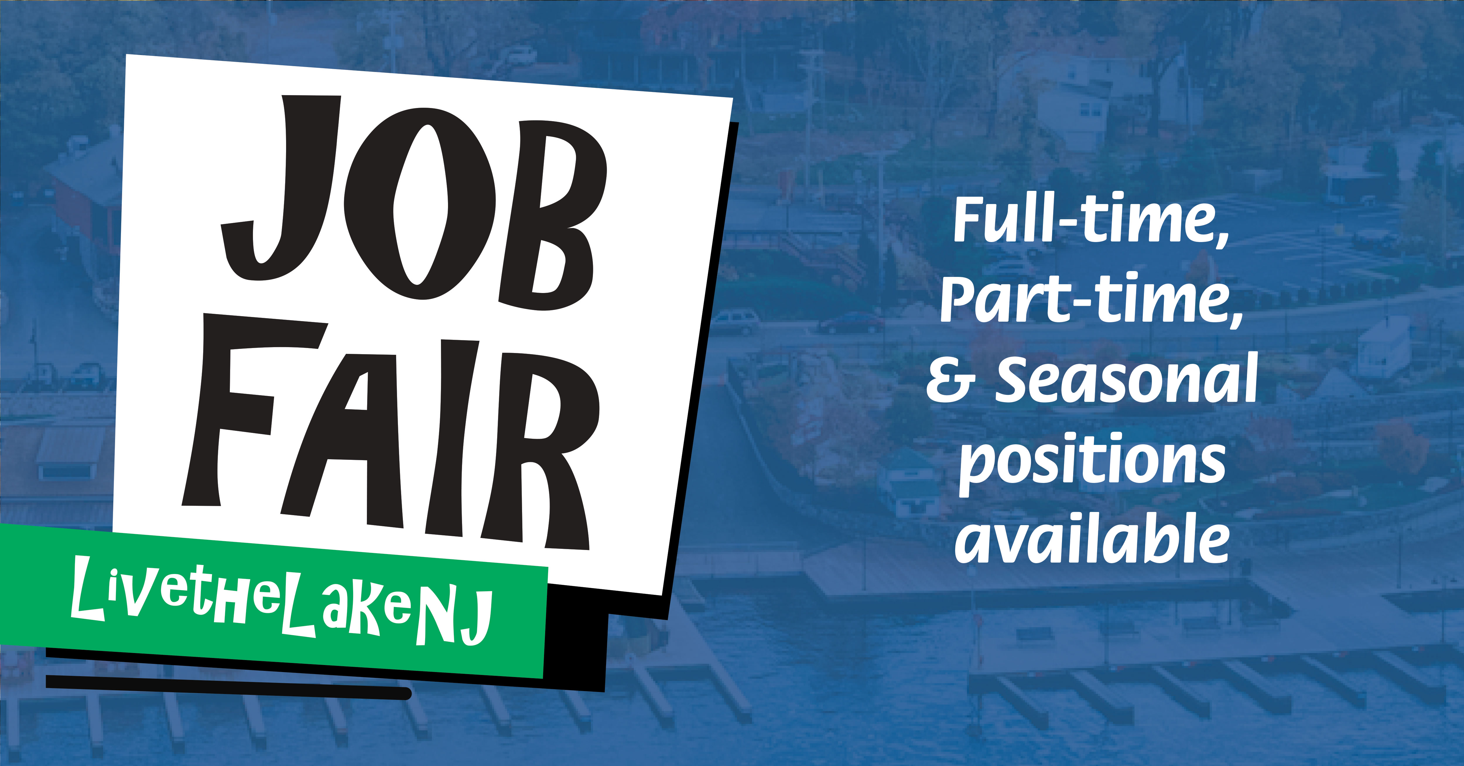 Job Fair Sign at Main Lake Market